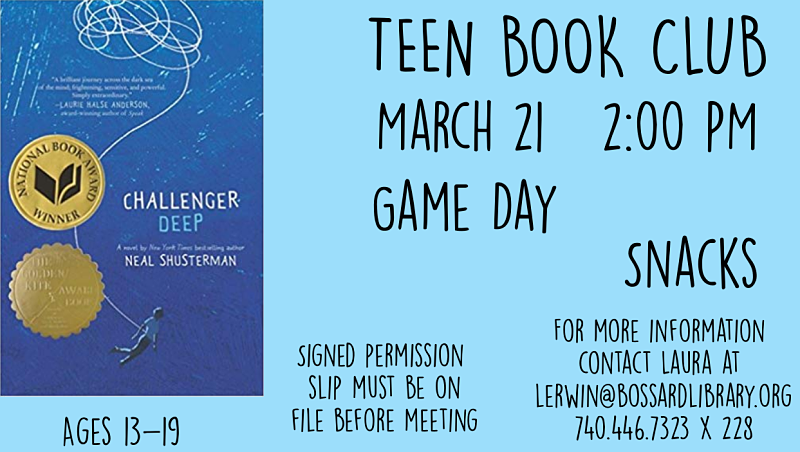 Teen Book Club March 2020